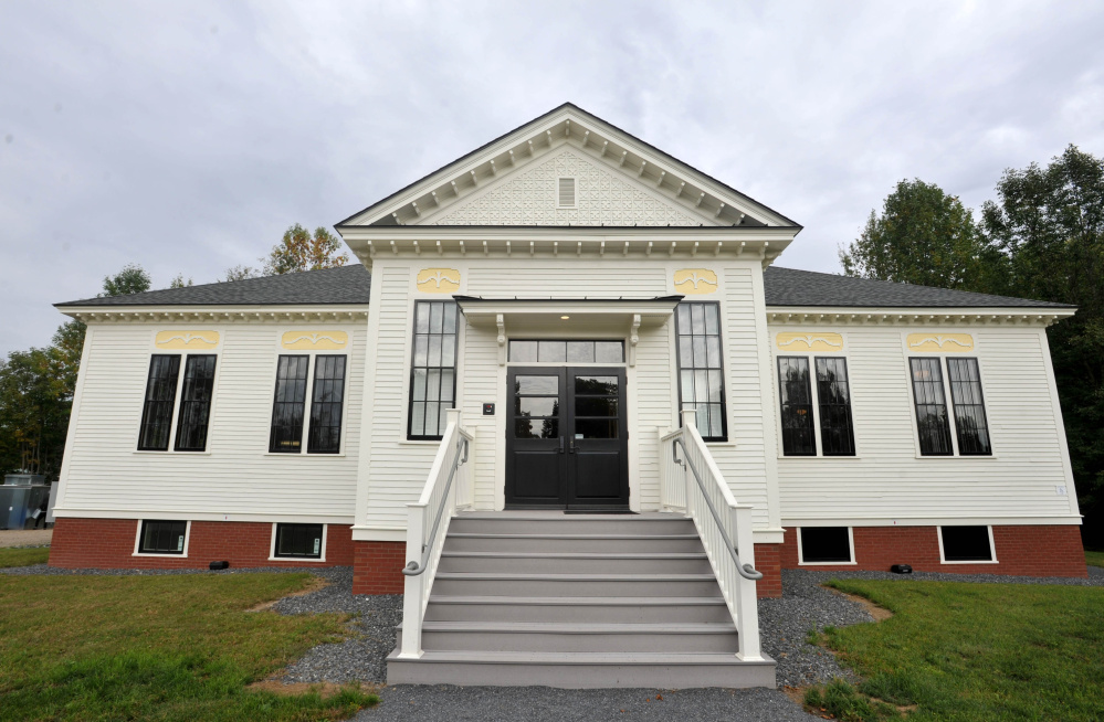 The Unity Food Hub will open its new headquarters in this renovated elementary school on School Street in Unity Thursday..