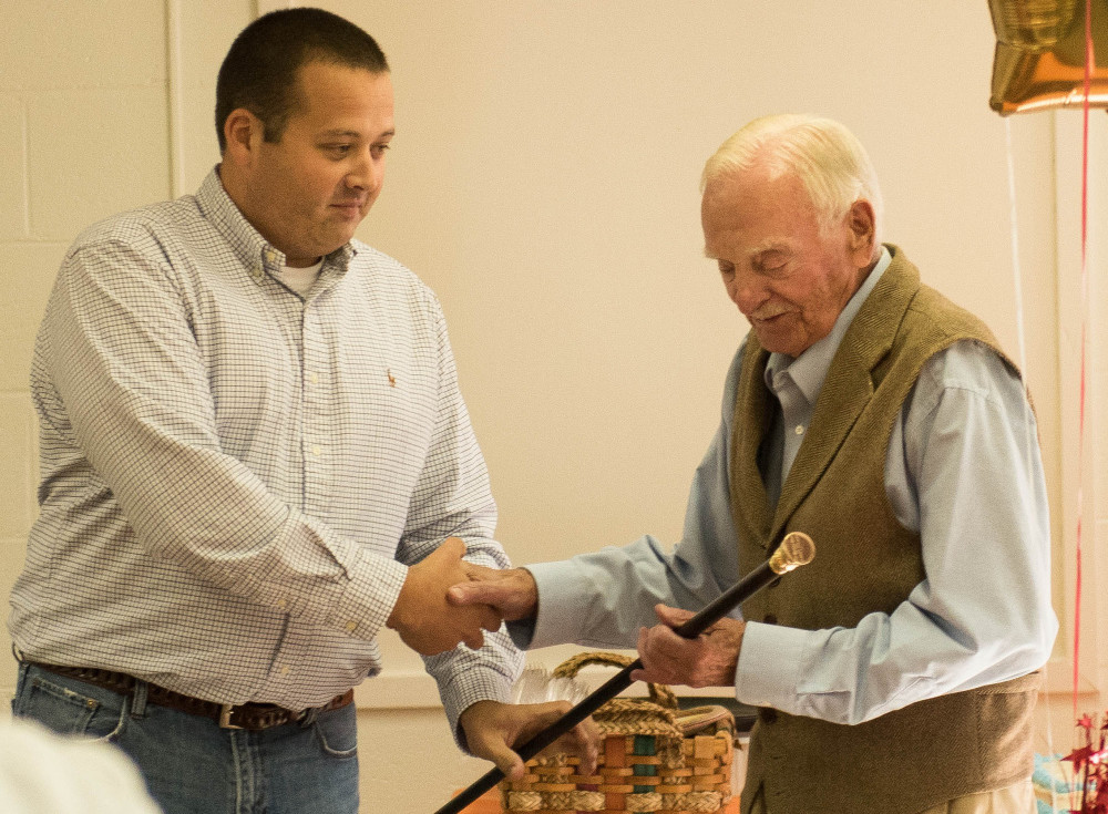 "Rome's Boston Post Cane recently was presented to Frederick ""Freddy"" W. Weston Jr. at the Rome Community Center."