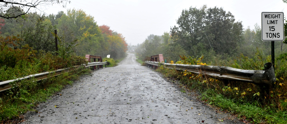 Hilton Bridge, on Red Bridge Road at the town boundary separating Canaan and Skowhegan, will be closed for a week later this month for repairs.