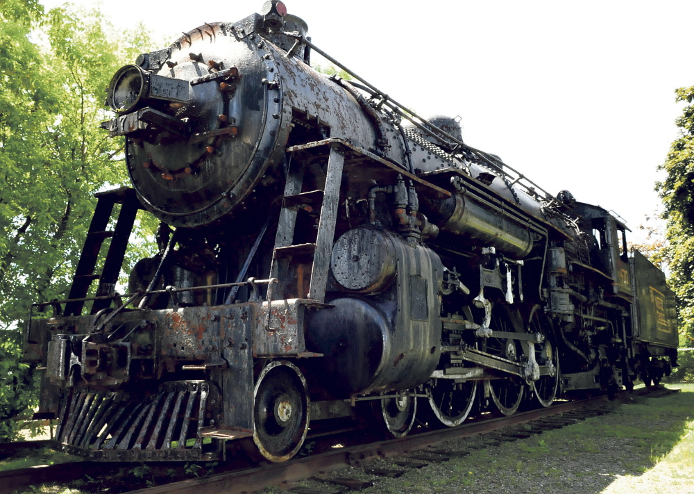 The 470 steam locomotive off College Avenue in Waterville will be purchased for $25,000 by New England Steam Corporation, which plans to restore the locomotive and move it by truck to Washington Junction in Ellsworth, where the Downeast Scenic Railroad is located.