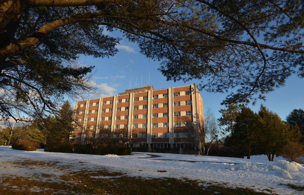 The former Seton Hospital building, seen Wednesday, is planned to be redeveloped into apartments and commercial space, with construction slated to begin this summer.