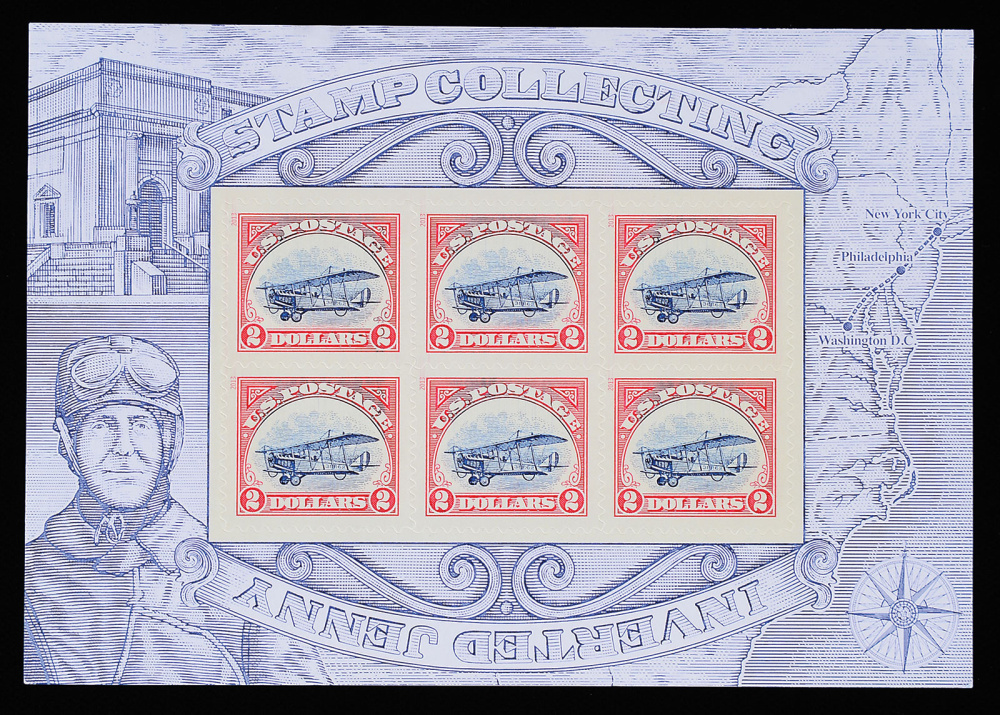 The Postal Service printed a run of inverted Jenny stamps in 2013 to commemorate its worst printing error ever, in 1918: 100 upside-down Jenny stamps in a 2.2 million run of upright ones. In the 2013 run, USPS printed 2.2 million upside-down Jennys and 100 upright ones.