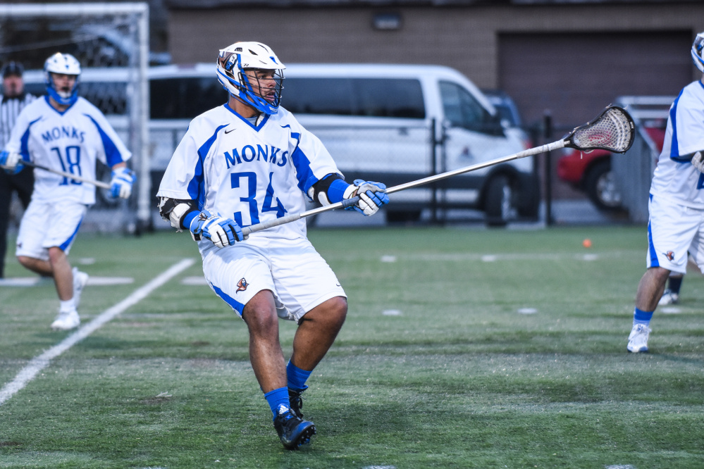Eddie Donnell, a Gardiner graduate, has emerged as a force for the St. Joseph's College men's lacrosse team. Donnell, a defender and co-captain, is relatively new to the sport, having picked it up his sophomore year in college.