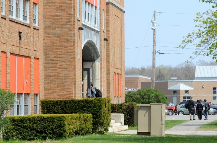 The school district is considering closing Winslow Junior High School and putting the seventh and eight-grade students in the high school and sixth-graders in the elementary school.
