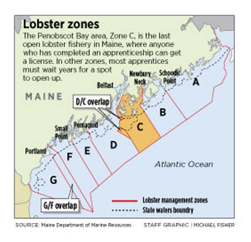 In maine 39 s last open lobster zone a feud over limiting for Maine out of state fishing license