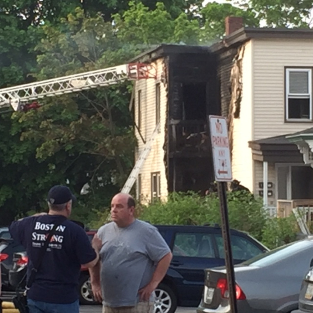 Blaze Heavily Damages Apartments In Woodfords Neighborhood
