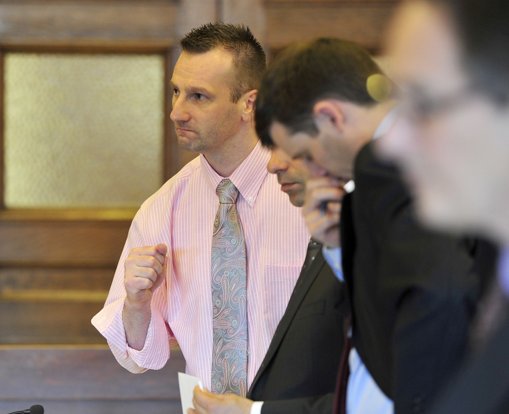 Joshua Nisbet, shown defending himself in court in 2014, was convicted in the robbery case and sentenced to seven years in prison.