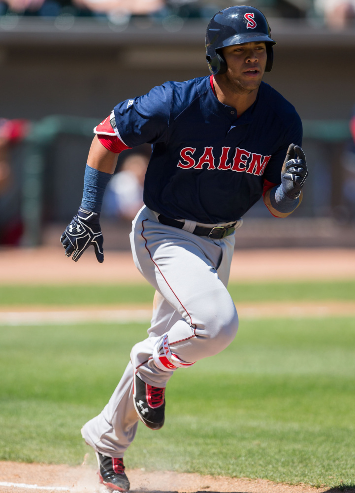 Yoan Moncada is considered a five-tool player and has flashed all of those tools with the Class A Salem Red Sox. Prior to his promotion to Portland, Moncada had a .307 average with 25 doubles and 36 steals.