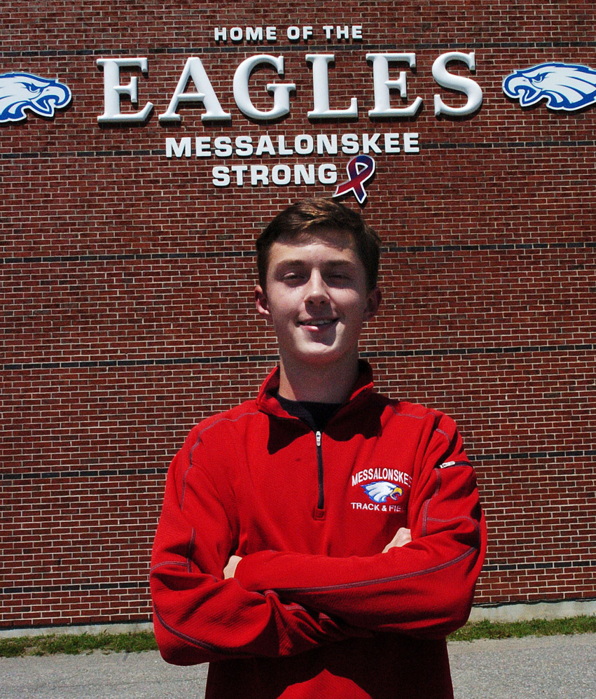 Messalonskee's Owen Concaugh is Kennebec Journal / Morning Sentinel Boys Track and Field Athlete of the Year.