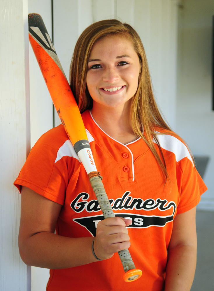 Gardiner's Bri Brochu is the Kennebec Journal Softball Player of the Year.