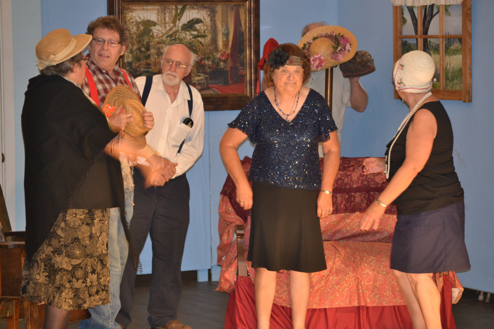 From left are Ellie Andrews, of Fayette; Steve Mallen, of Mount Vernon; Alan Harville, Barbara Gilman and Eileen Lord, all of Vienna.