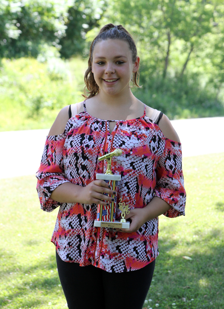 Jocelyn Begin, of Fairfield, was named the Idol Competition 12 & over winner during the Winslow Family 4th of July Celebration. She sang