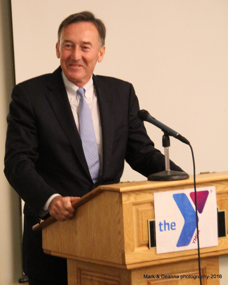 Gregory Powell, chairman of the Harold Alfond Foundation, thanked the Y's donors and praised the charitable work of the KV YMCA during the Y in 2015 event.