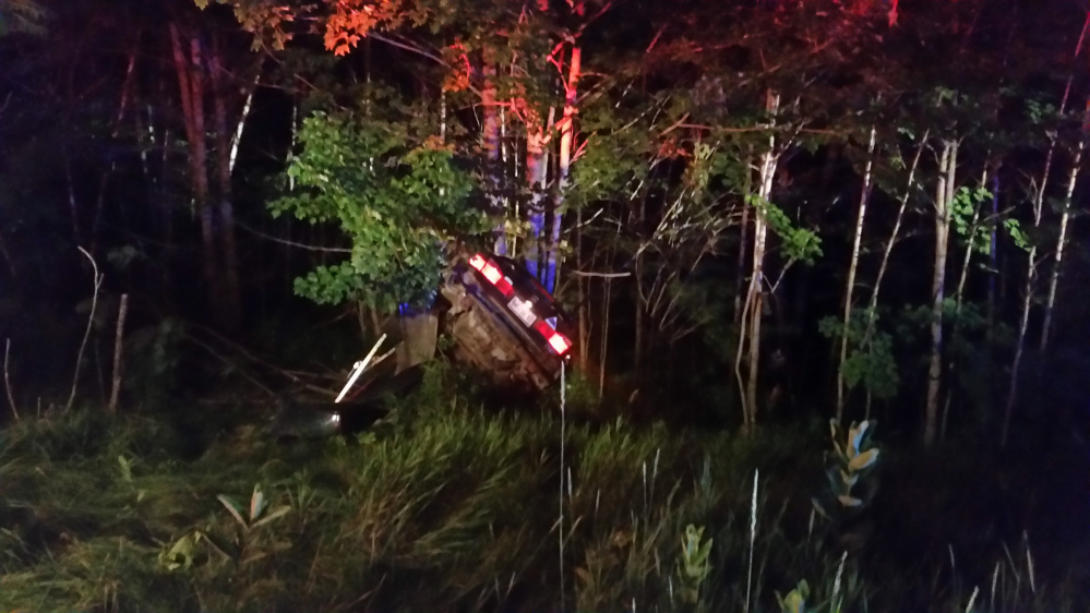 A New Sharon man was injured as well as summoned as the result of a one-car accident on Starks Road on Thursday night.