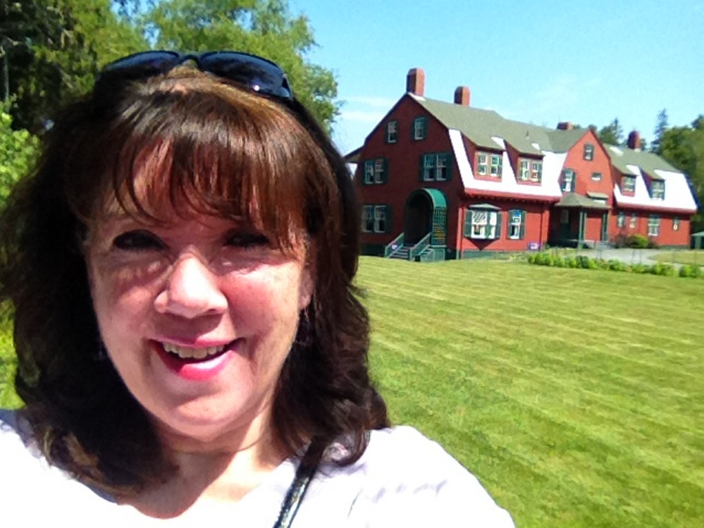 Amy Calder at the summer cottage of Franklin and Eleanor Roosevelt on Campobello Island in New Brunswick. The house is now a museum run by the U.S. and Canadian governments.