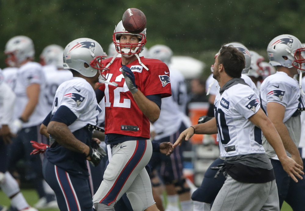 New England Patriots quarterback Tom Brady addressed the media on Friday for the first time since deciding not to appeal his four-game Deflategate suspension. He can practice with the team until Sept. 3, then must stay away from all team activities.