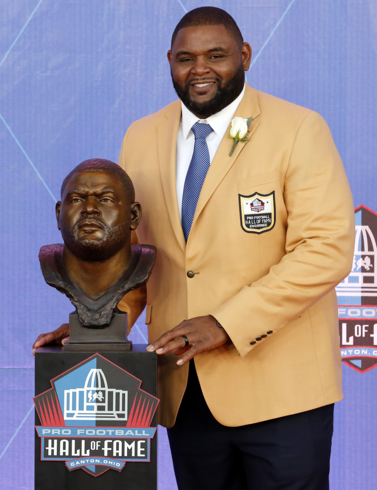 Orlando Pace, who was the first overall pick in the 1997 NFL draft, was inducted into the Pro Football Hall of Fame on Saturday.