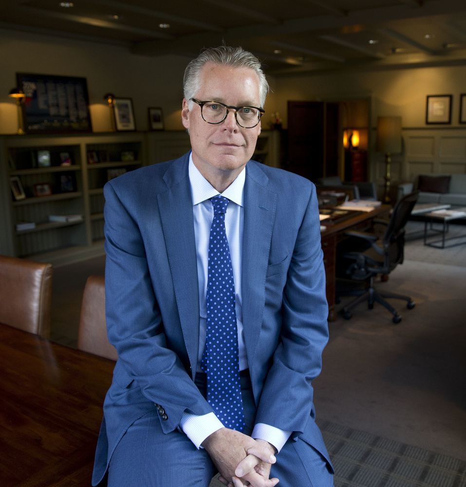 Delta Air Lines CEO Ed Bastian, shown at headquarters in Atlanta, says about the delays,
