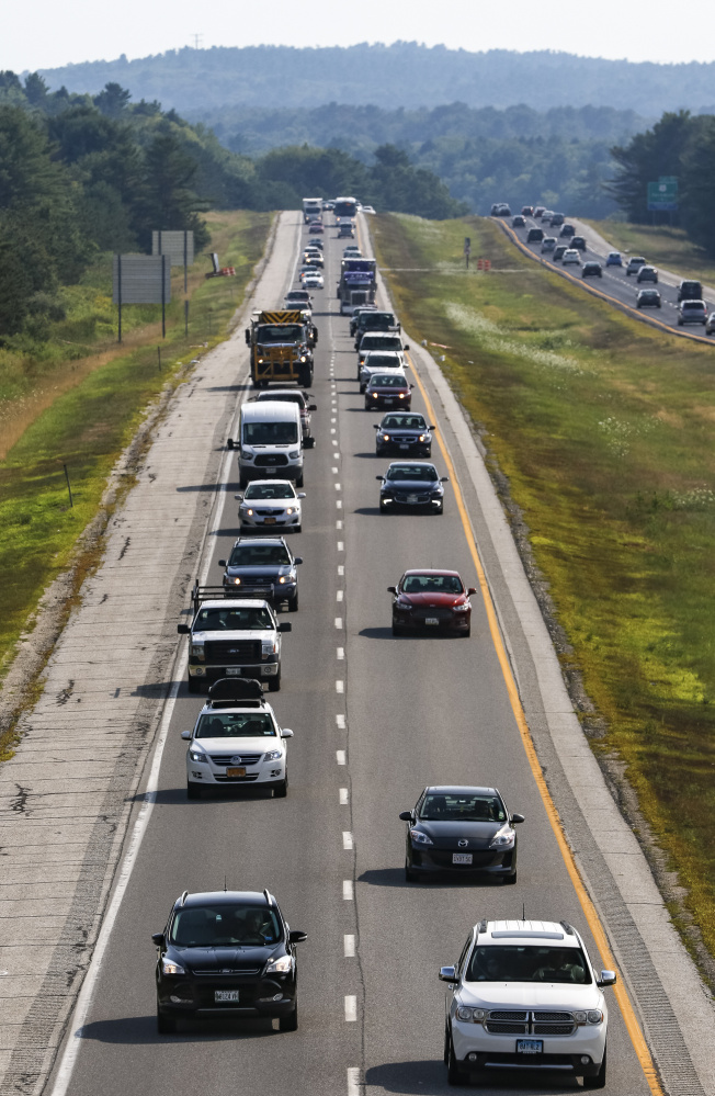 Besides record traffic on the Maine Turnpike, the interstates have been busy, including Interstate 295 in Freeport.