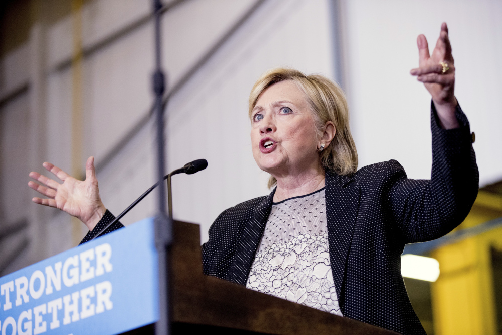 Democratic presidential candidate Hillary Clinton and her husband paid an effective tax rate of 34.2 percent in 2015, her campaign says.
