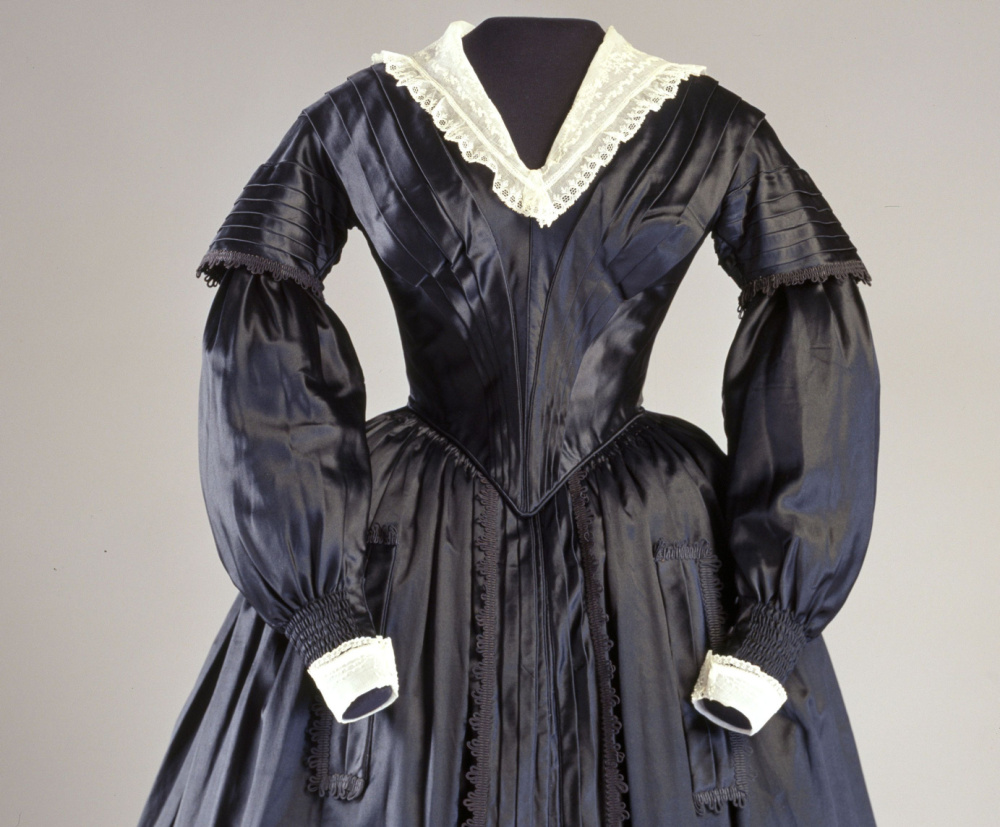 A dress from the 1850s.
