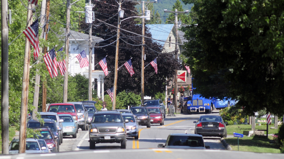The state is planning a major reconstruction of Route 27 in Belgrade Lakes village, shown Wednesday, and the public is invited to learn more about it at a Tuesday meeting.