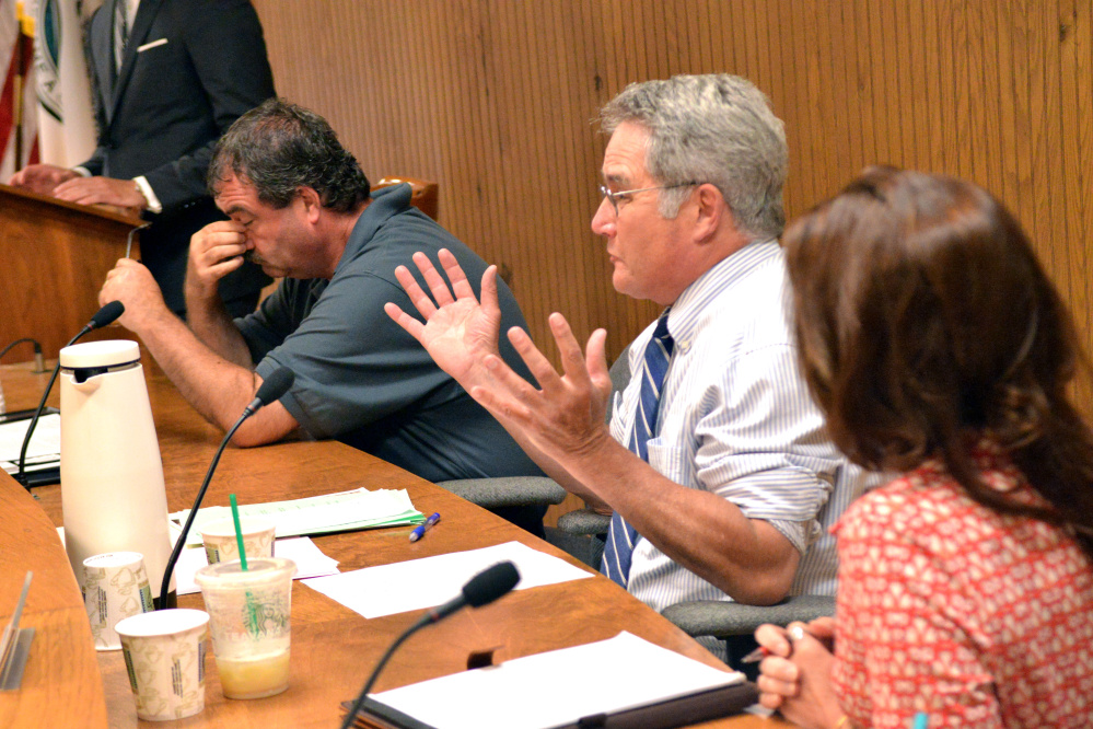 Waterville City Council Chairman John O'Donnell, D-Ward 5, speaks at the July 19 meeting before the council voted to override Mayor Nick Isgro's budget veto. They repealed the vote Monday. O'Donnell, who has been on the council for 10 years, said Thursday he's not running for re-election.