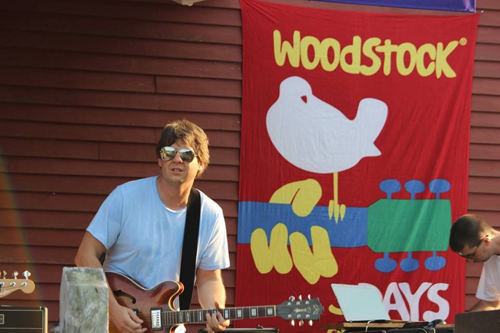A performer from last years Woodstock Revival and Art Walk.
