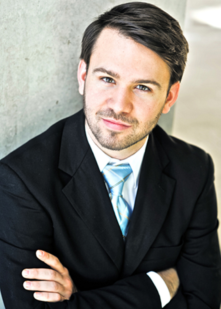 Andrew Crust, the Portland Symphony Orchestra's new assistant conductor, is