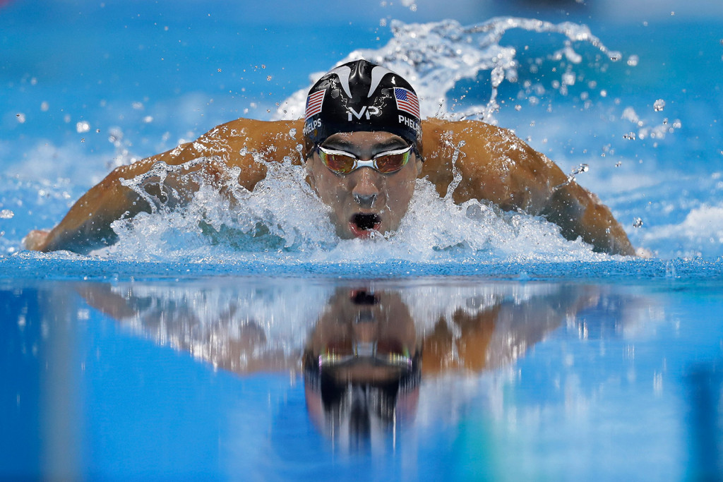 Michael Phelps drives to another gold medal in the men's 200-meter individual medley Thursday night in Rio de Janeiro. Associated Press/Michael Sohn
