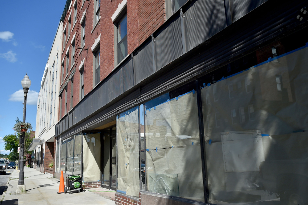 The Levine's building at 9 Main St. in Waterville, seen Friday, is scheduled to be torn down, and the site could become the location of a boutique hotel.