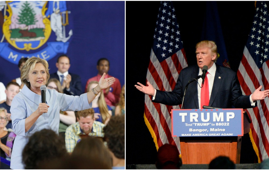 Donald Trump, Republican presidential nominee, leads Democratic nominee Hillary Clinton by 10 points in Maine's 2nd Congressional District, according to a new poll from Colby College and the Boston Globe. Under such a scenario, Trump would pick up one electoral vote, while Clinton, who the poll showed leading Trump statewide and in the 1st District, would pick up three electoral votes.