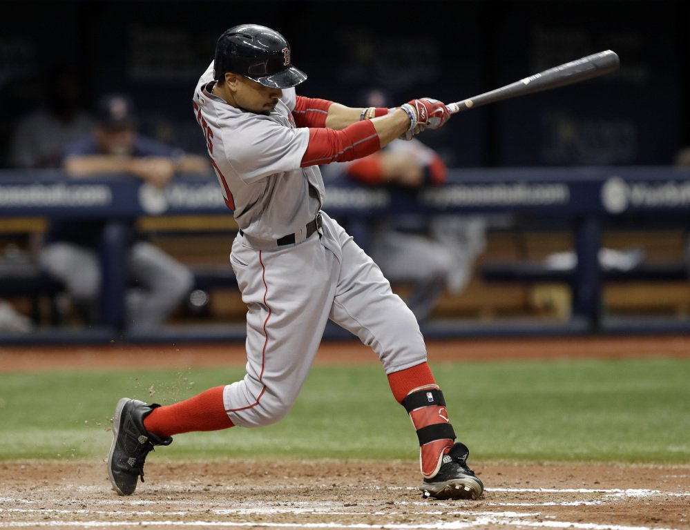 Boston's Mookie Betts, who turned 24 in October, finished second in the MVP voting after batting .318 with 31 homers, 113 RBIs and 26 steals.