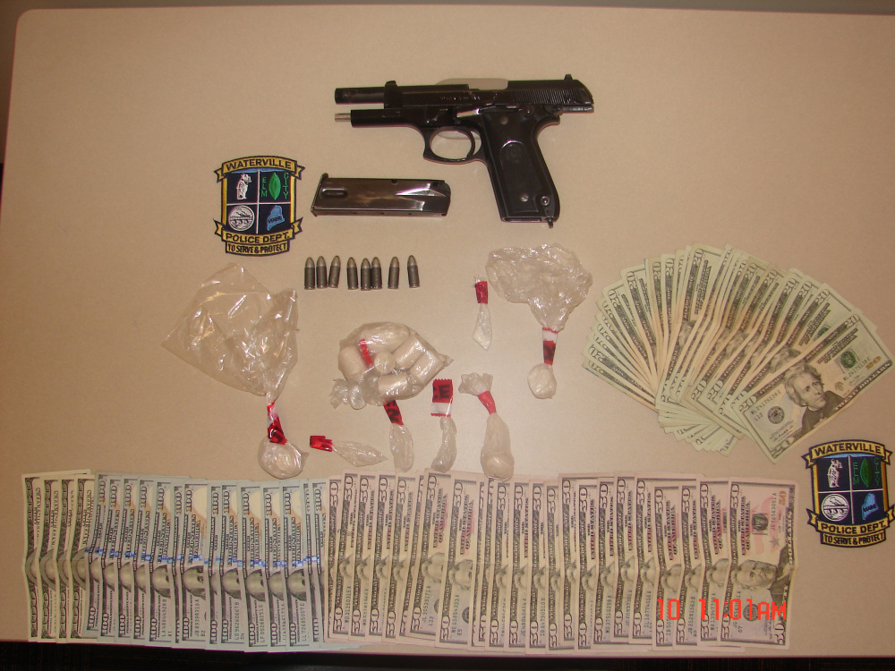 Some of what police seized during the search warrant at 150 College Ave. in Waterville.