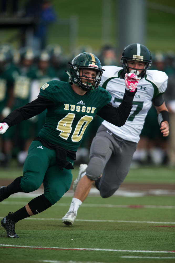 Husson safety Rick Orio, a Cony graduate, is a leader on an Eagles team that enjoyed another standout season.