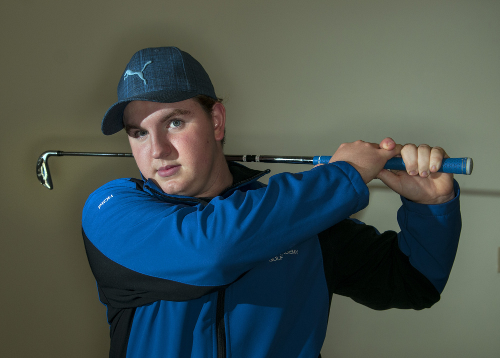 Erskine Academy junior Aaron Pion is the Kennebec Journal Golfer of the Year.