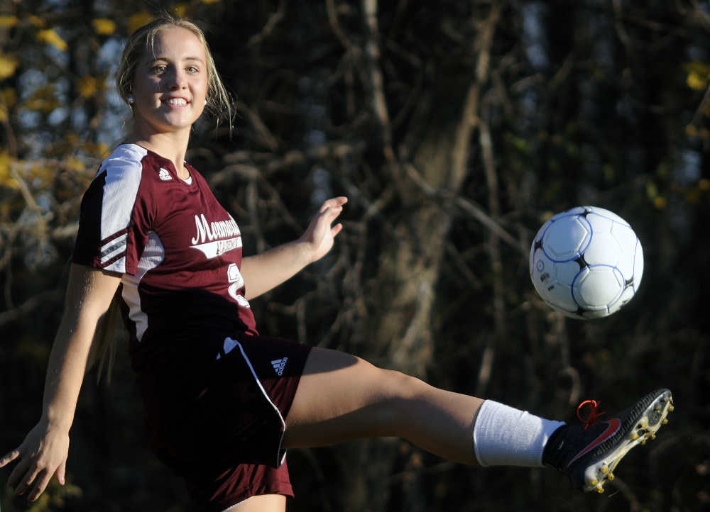 Haley Fletcher is the Kennebec Journal Girls Soccer Player of the Year.