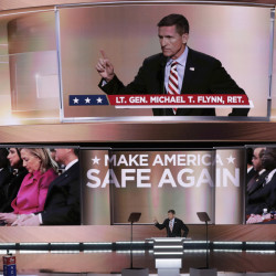 Some people say they are troubled by Lt. Gen. Michael Flynn's tendency to promote fake news on his Twitter feed. As national security adviser, his office will be steps from the Oval Office, proximity that allows him to be a gatekeeper.
