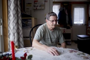 Carroll Daggett sits in his home on Marshall Pond Road in Hebron and describes discovering the body of his neighbor, 56-year-old Daniel Randall. Police suspect Randall killed his daughter, 27-year-old Claire Randall, and then killed himself.