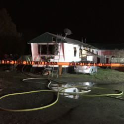 Firefighters from Skowhegan, Canaan and Madison, as well as Skowhegan and state police, responded to a report of a fire at this residence off North Avenue in Skowhegan on Friday night.