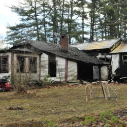 An early morning fire on Saturday destroyed this home at 183 Whitefield Road in Pittston.