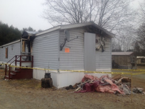 A mobile home at 45 Hilltop Drive in Skowhegan was destroyed by fire Sunday after the woman living there smoked a cigarette while using oxygen.