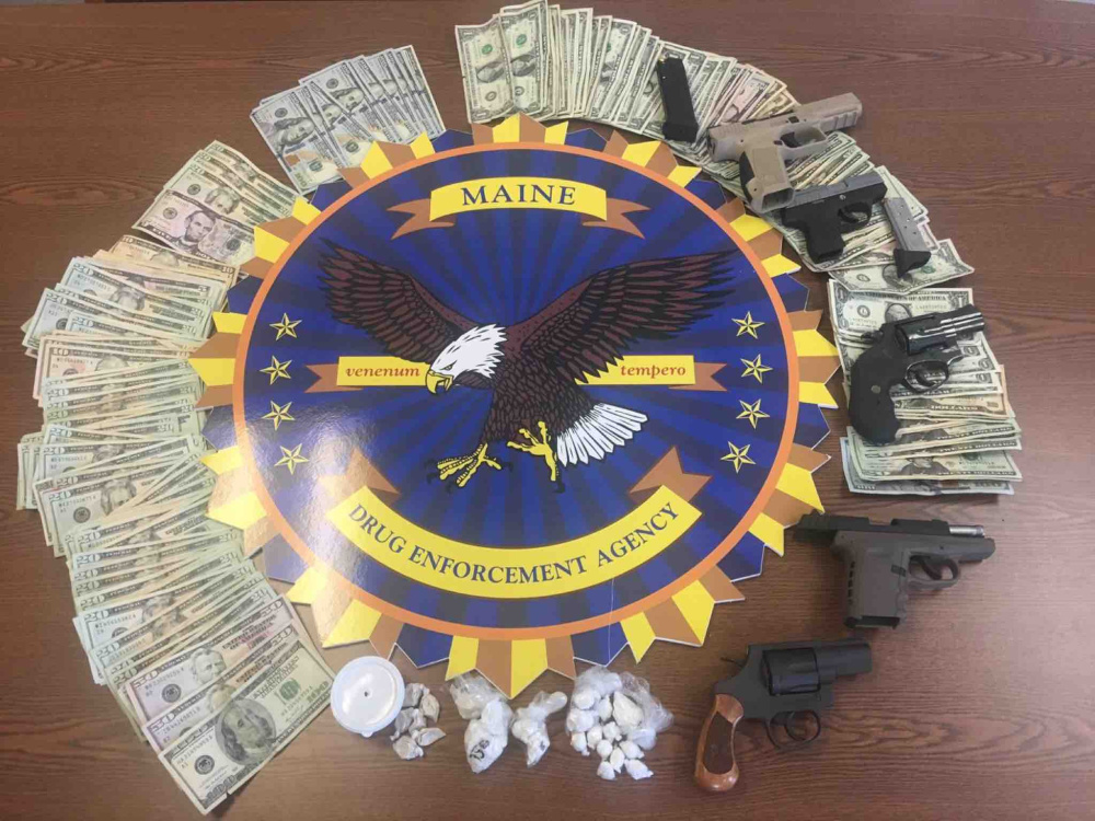 Maine Drug Enforcement Agency agents, along with law enforcement from the Augusta police, the Kennebec County Sheriff's Office and the state police, searched five locations in the city Tuesday as part of a months-long drug investigation that resulted in 12 arrests.