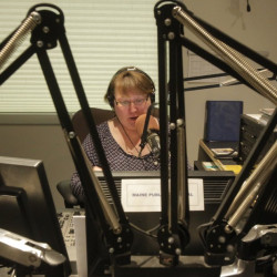 Robin Rilette hosts her morning classical music program in the Portland studios of Maine Public Broadcasting Network on Tuesday. Starting May 9, her show will move to MPBN's new classical music service, available from stations in Waterville, Bangor and Fryeburg, as well as online and on HD radios.