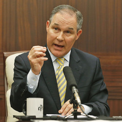Oklahoma Attorney General Scott Pruitt is among state attorneys general who have worked with energy producers to push back against federal regulation of the oil and gas industry. Associated Press/Sue Ogrocki