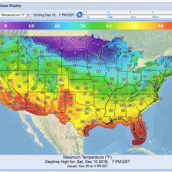 This National Weather Service map shows the forecast for Saturday.