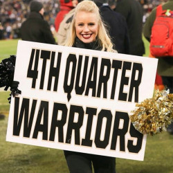 Former Cony athlete Alyssa Brochu is now a 'Rabble Rouser' — or cheerleader — for the United States Military Academy. She was on the field when Army football upset Navy for the first time in 15 years.