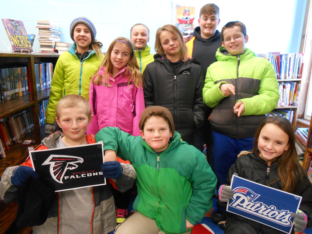 Clinton Elementary Student Council member in Front, from left, are Cameron Stewart, Max Begin and Kylie Delile. Middle row, from left, are Hailey Bowley, Kyra Henry and Matthew Stubenrod. In back, from left, are Makenzie Nadeau, Cylie Henderon and Lucas Campbell.
