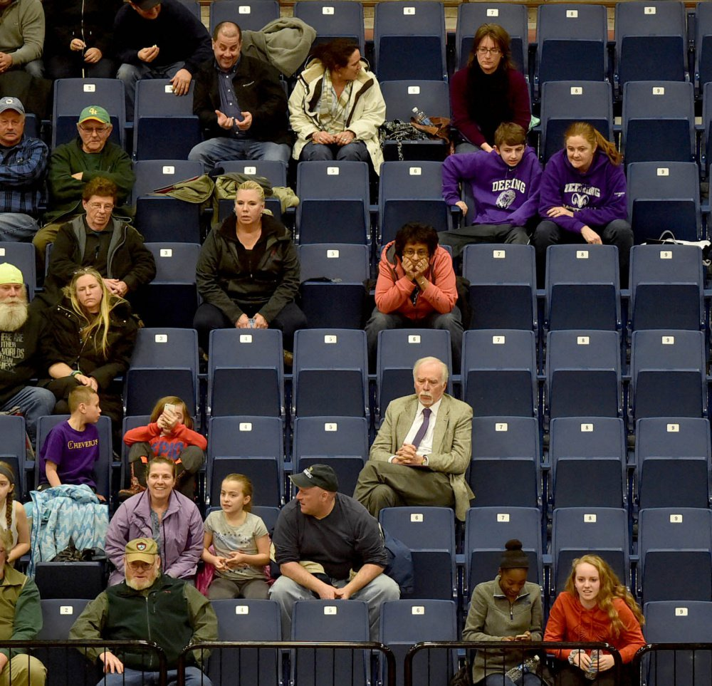 There were plenty of seats available when Bangor and Cheverus played in the Class AA North quarterfinals at the Augusta Civic Center. The new five-class systems has impacted attendance in Augusta and Portland.
