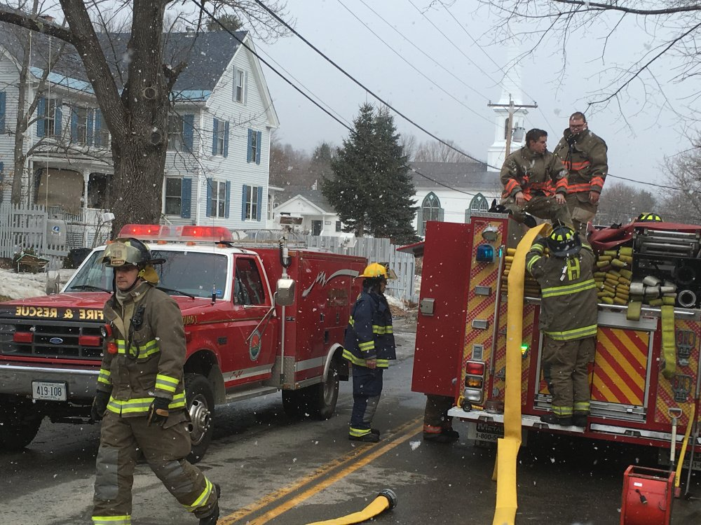 Firefighters went on Thursday morning to Academy Street in Hallowell in response to a report of smoke and found a fire in the basement.